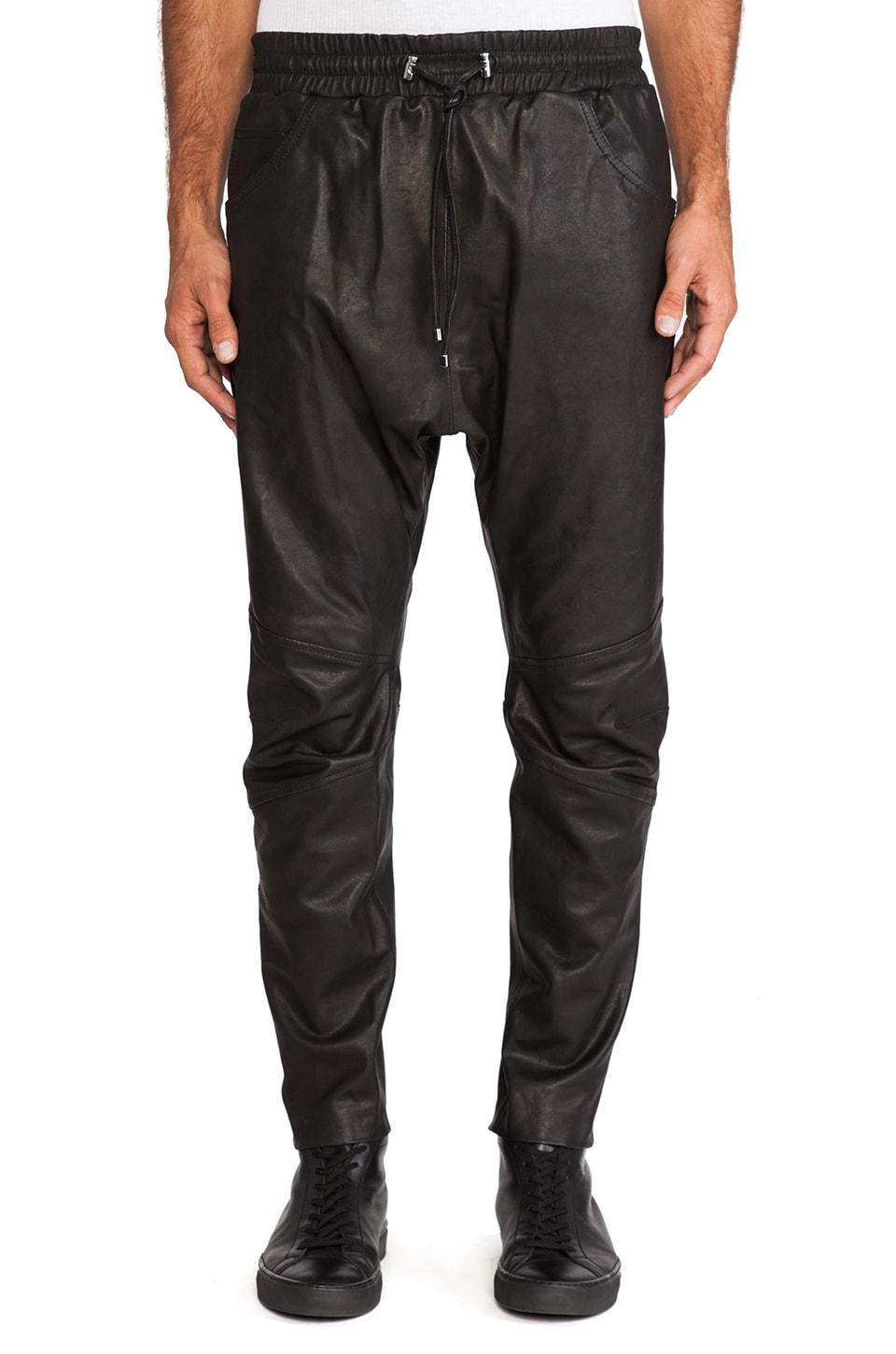 Pierre Balmain Leather Pant in Black