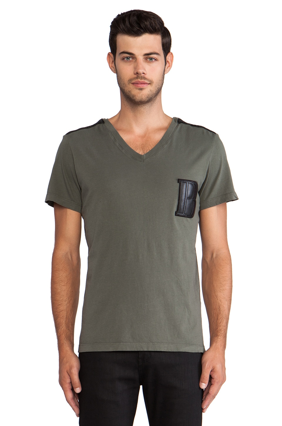 Pierre Balmain Tee in Military Green