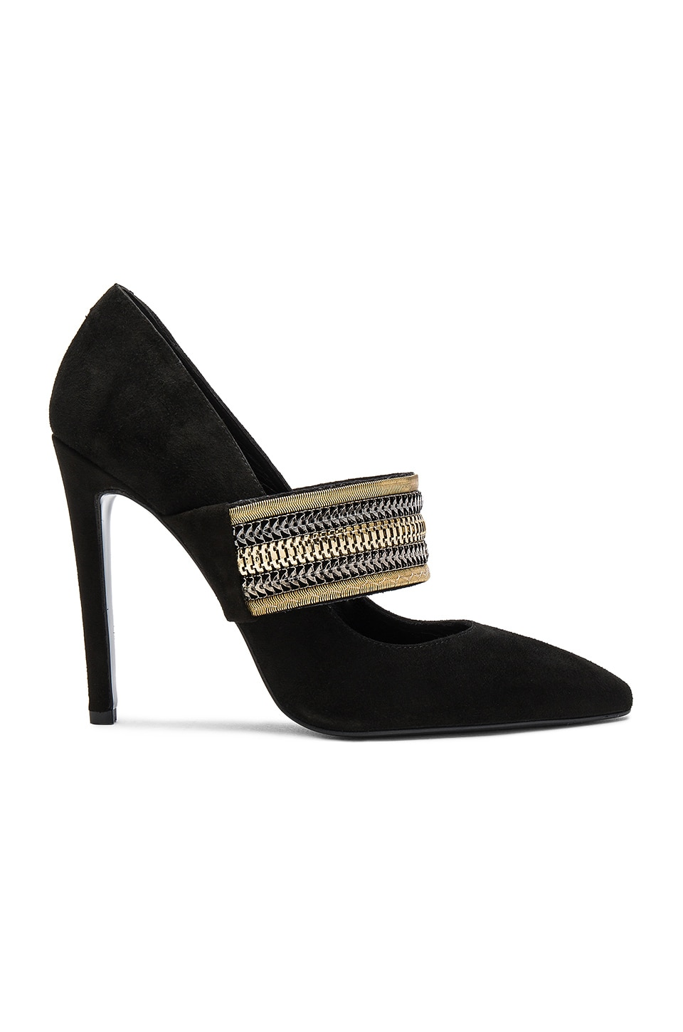Pierre Balmain Embellished Heel in Black