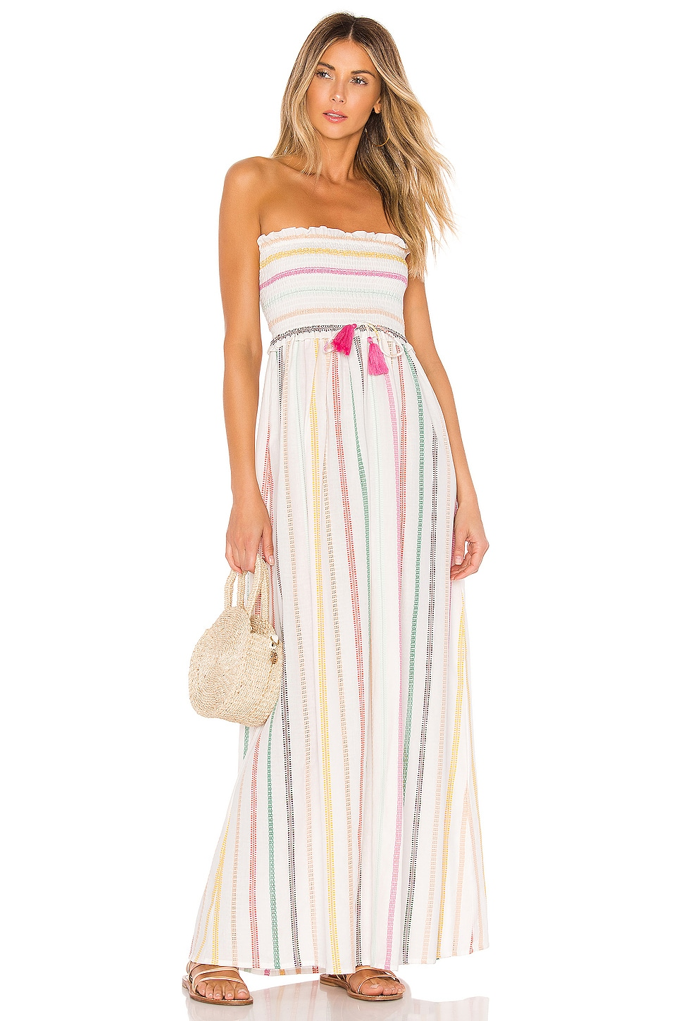 PILYQ Stephanie Dress in Multi Stripe