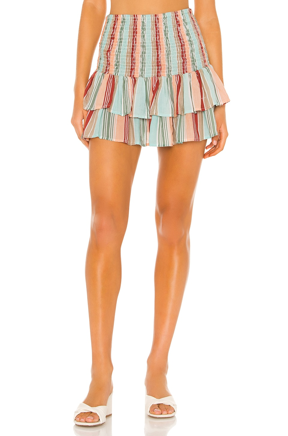 PILYQ x Helen Owen Smocked Skirt