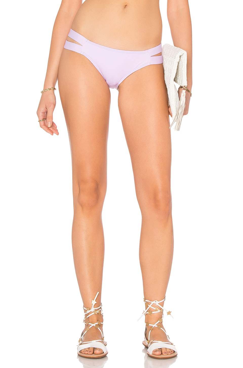 PILYQ Strappy Madrid Bikini Bottom in Orchid