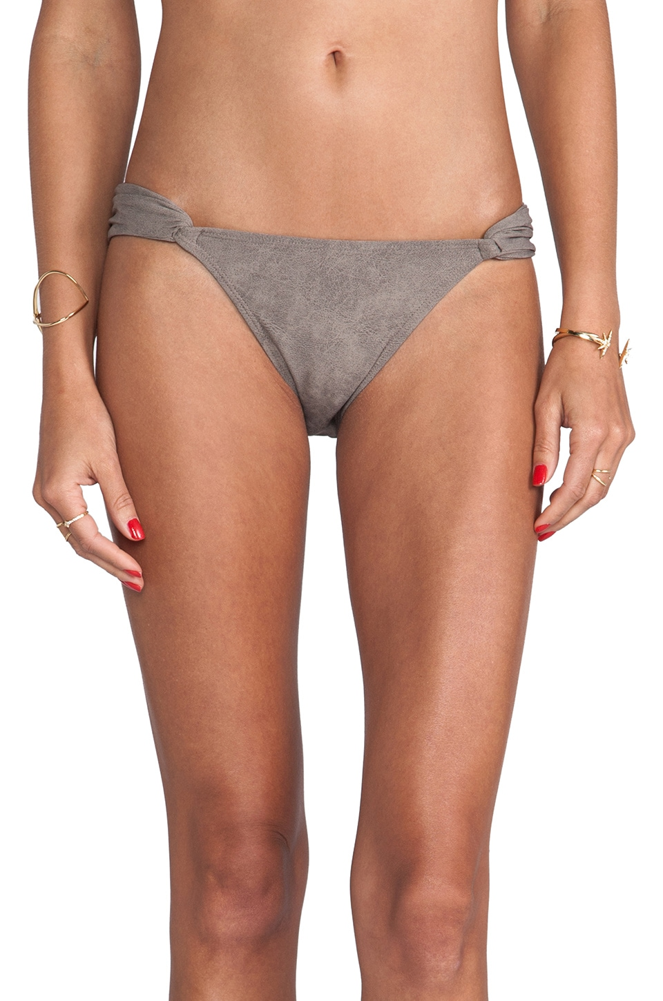 PILYQ Tie-Side Bottom in Chuchi Suede