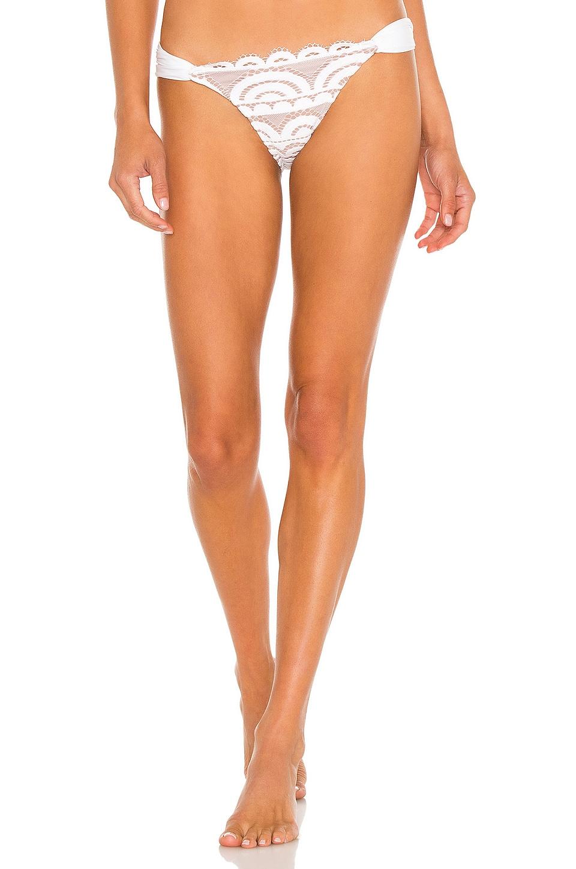 Lace Fanned Teeny Bikini Bottom by PILYQ Swimwear