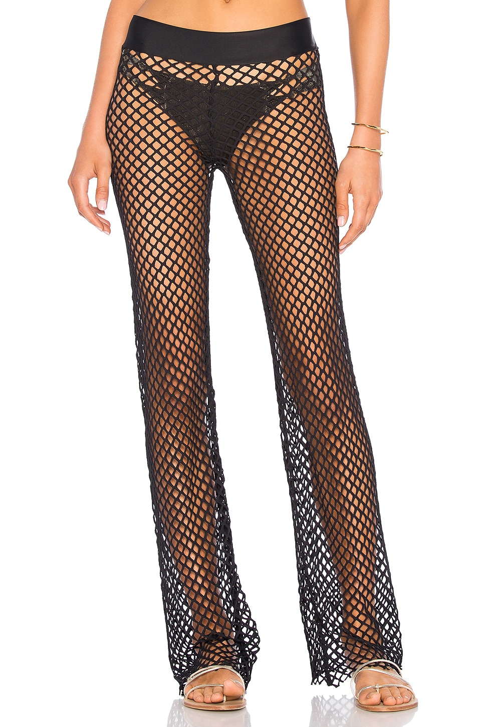 PILYQ Nikki Mesh Pant in Midnight