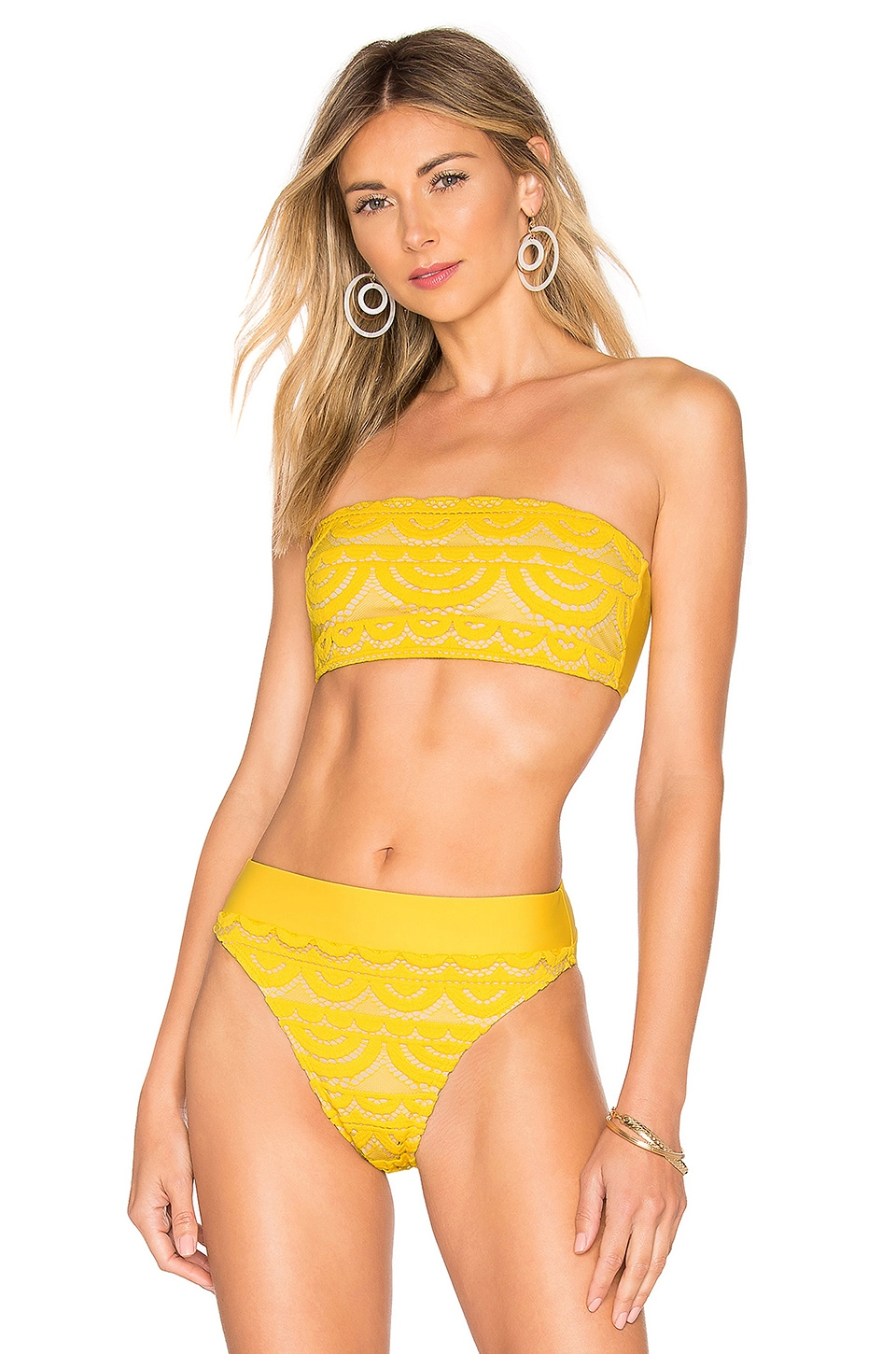 PILYQ Lace Bandeau in Marigold