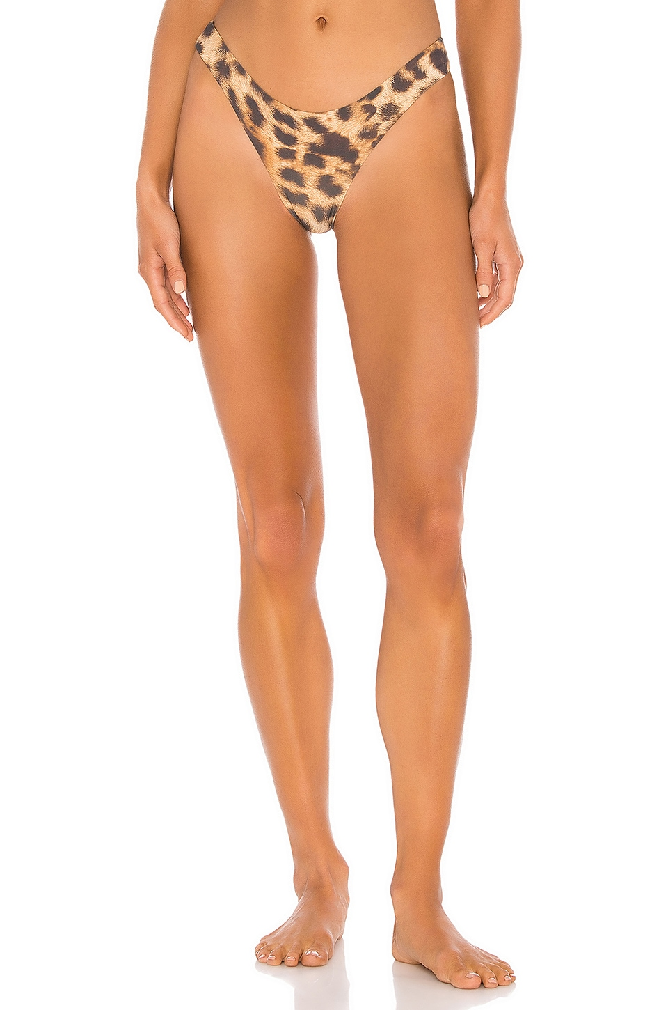 PILYQ Reversible Basic Teeny Bikini Bottom in Jungle