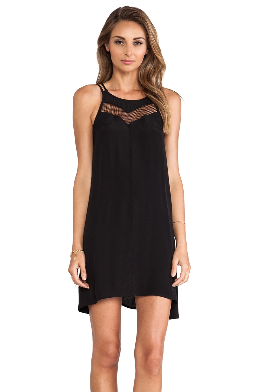 Pink Stitch Bently Dress in Black