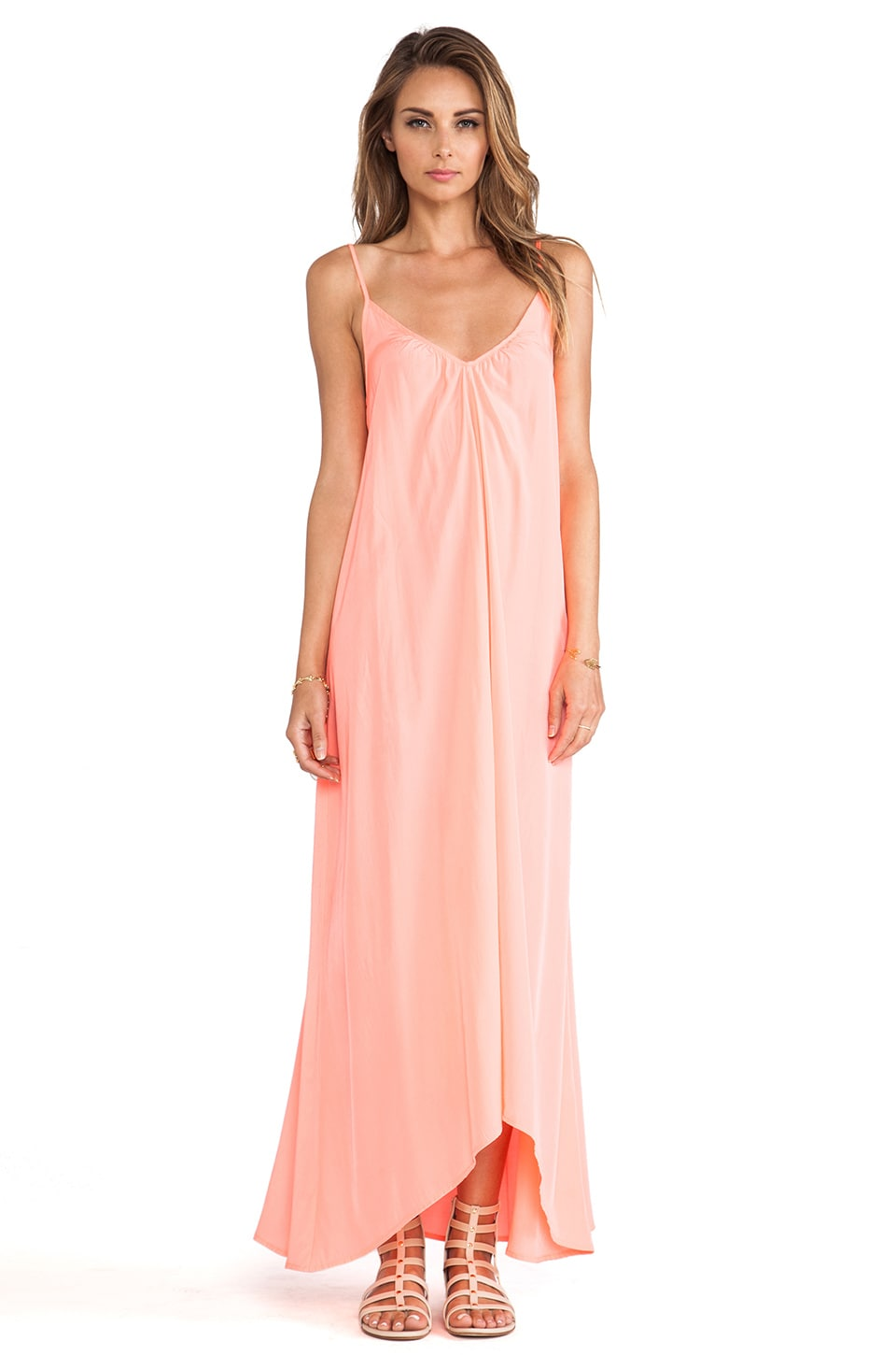 Pink Stitch Resort Maxi Dress in Candy