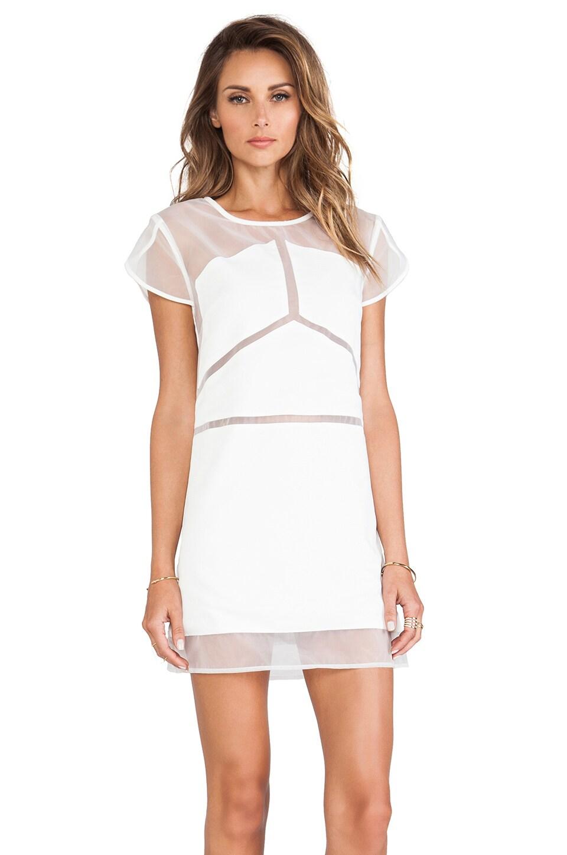 Pink Stitch Mercury Dress in White