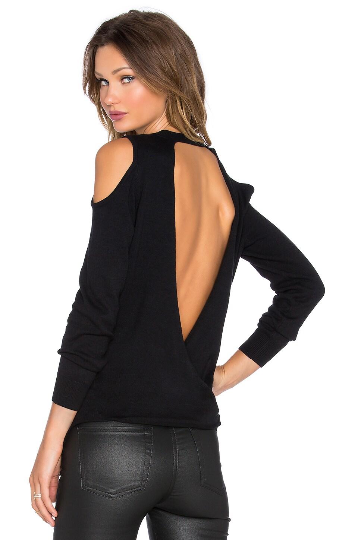 Pink Stitch Jonah Sweater in Black