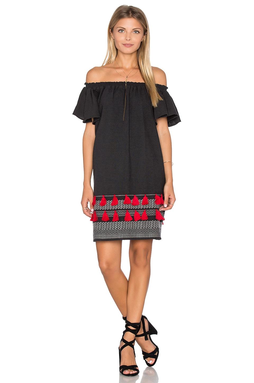 PIPER Apala Off Shoulder Dress in Black