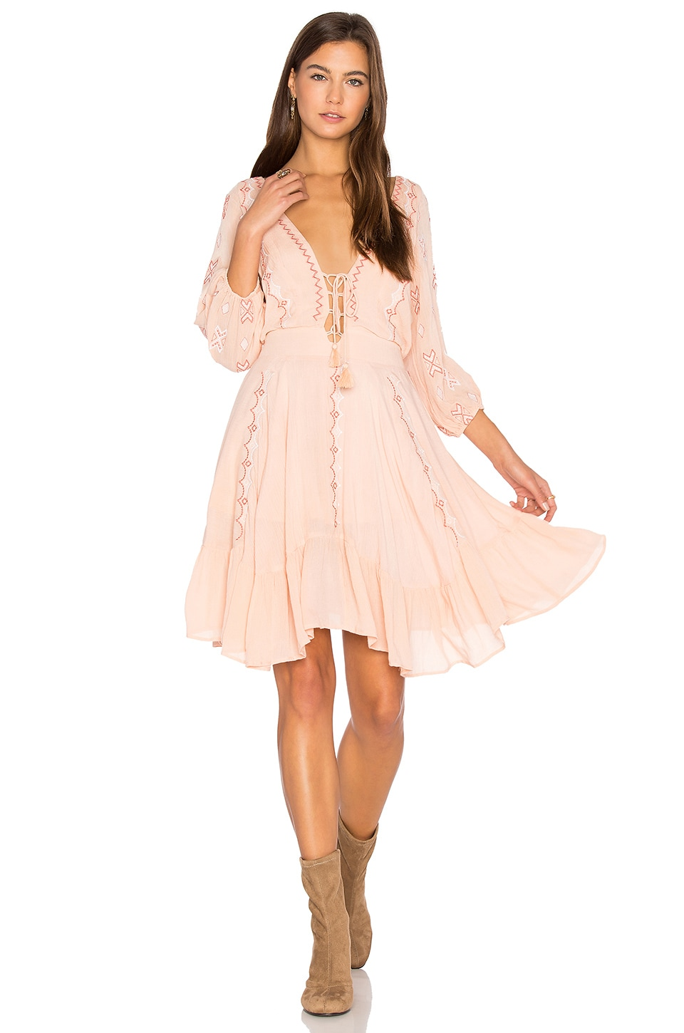 PIPER Indo Dress in Peony