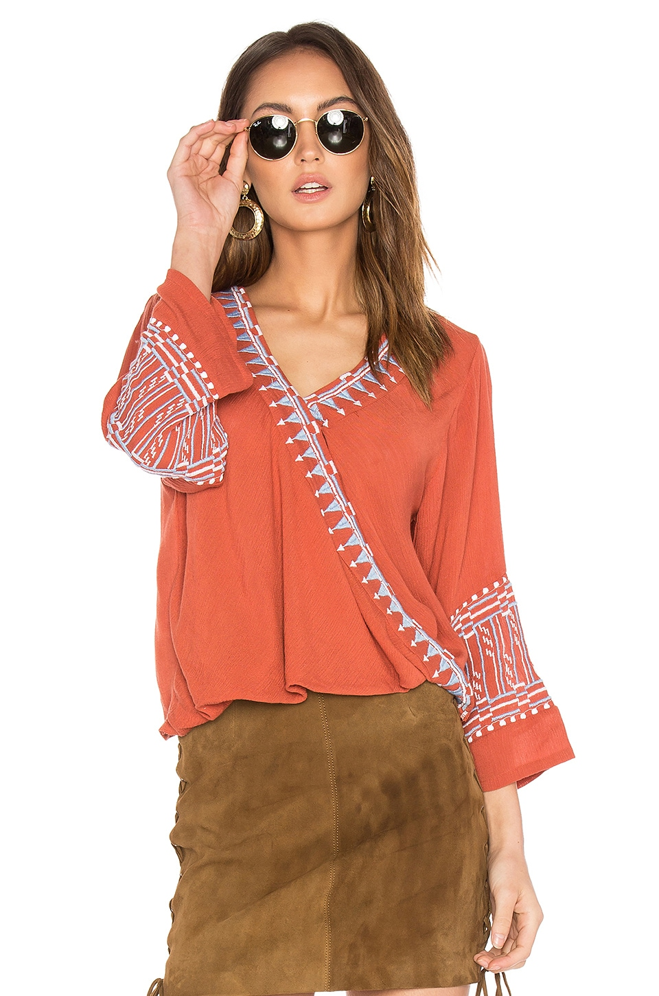 Butan Embroidered Top by PIPER