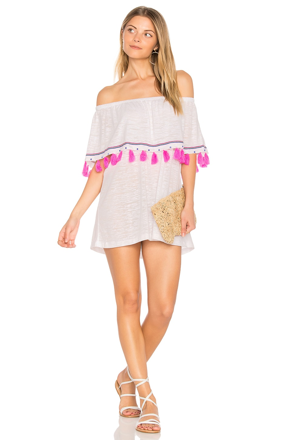 Pitusa Ibiza Mini Dress in White
