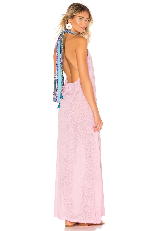 Pitusa Llama Halter Dress in Light Pink