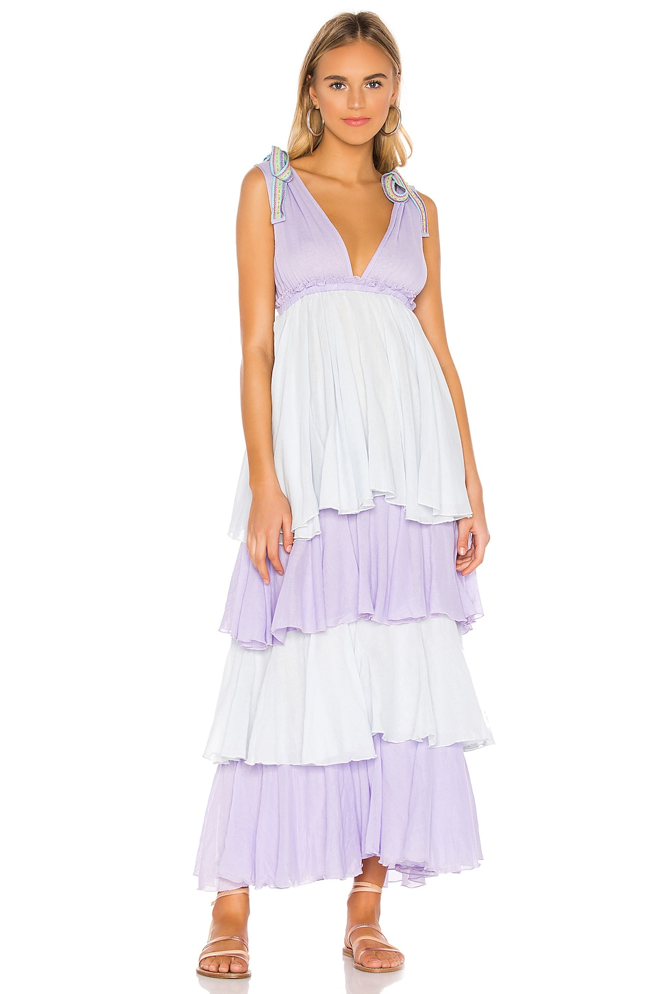 Pitusa Alma Dress in Orchid Ice & Arctic Ice