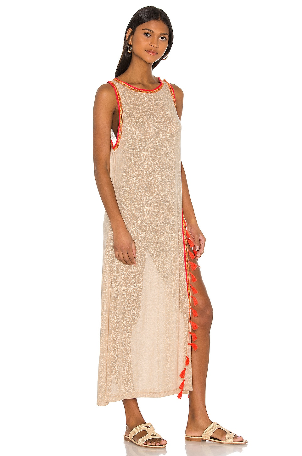 Tassel Slit Dress, view 2, click to view large image.