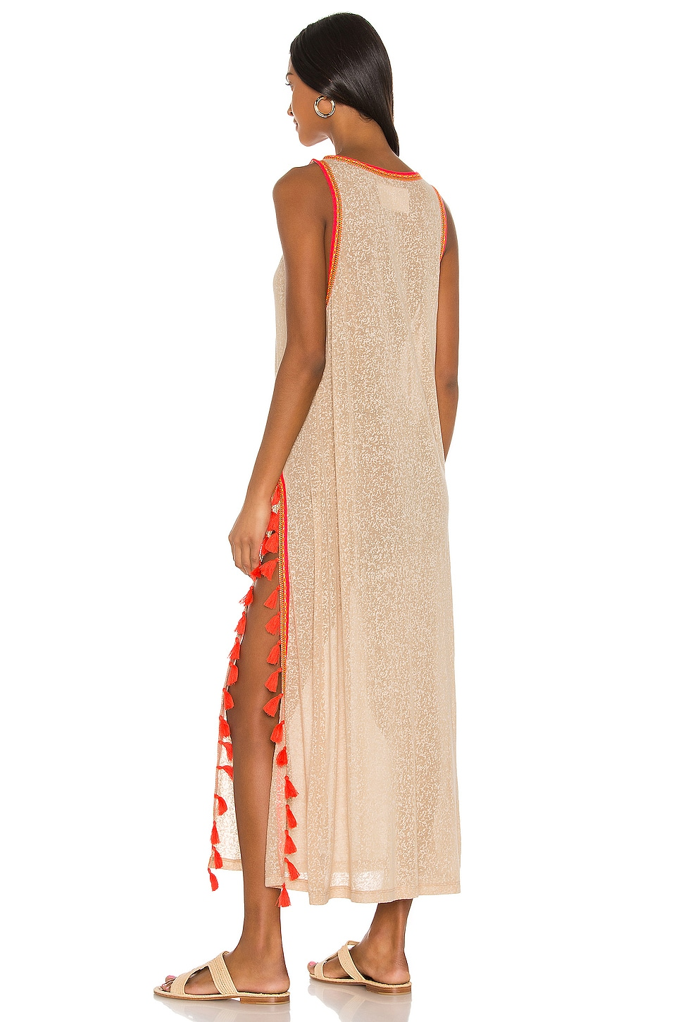 Tassel Slit Dress, view 3, click to view large image.