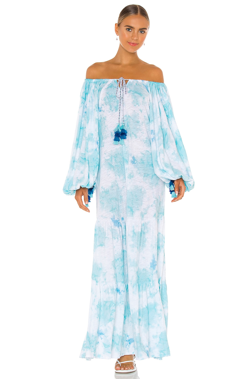 Pitusa Pima Pea Dress in Light Blue Tie Dye