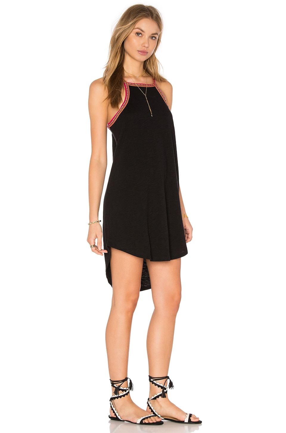 Pitusa Crew Neck Dress in Black