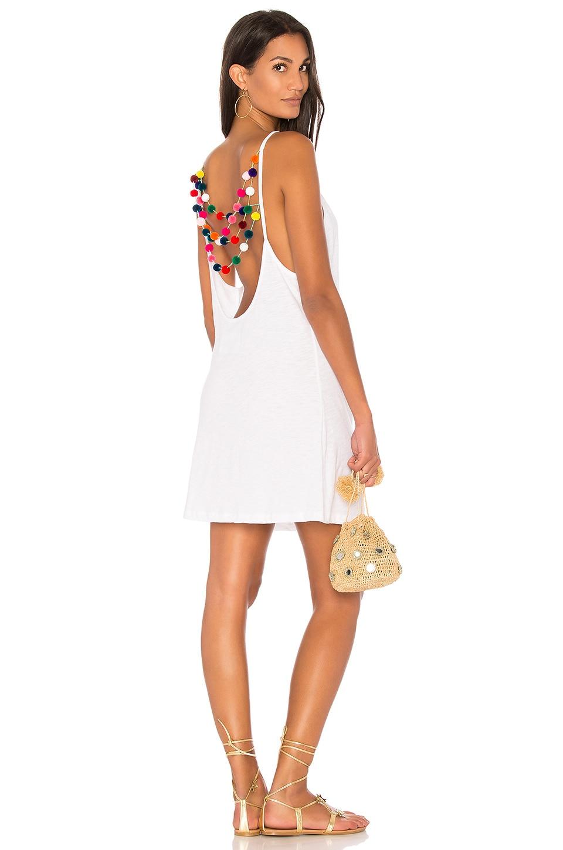 Mini Pom Pom Dress by Pitusa