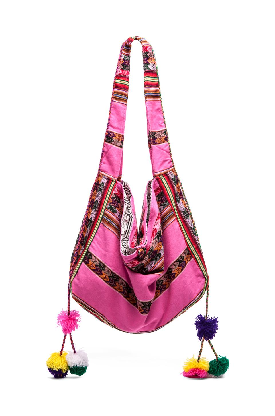 Pitusa Inca Beach Bag in Hot Pink | REVOLVE