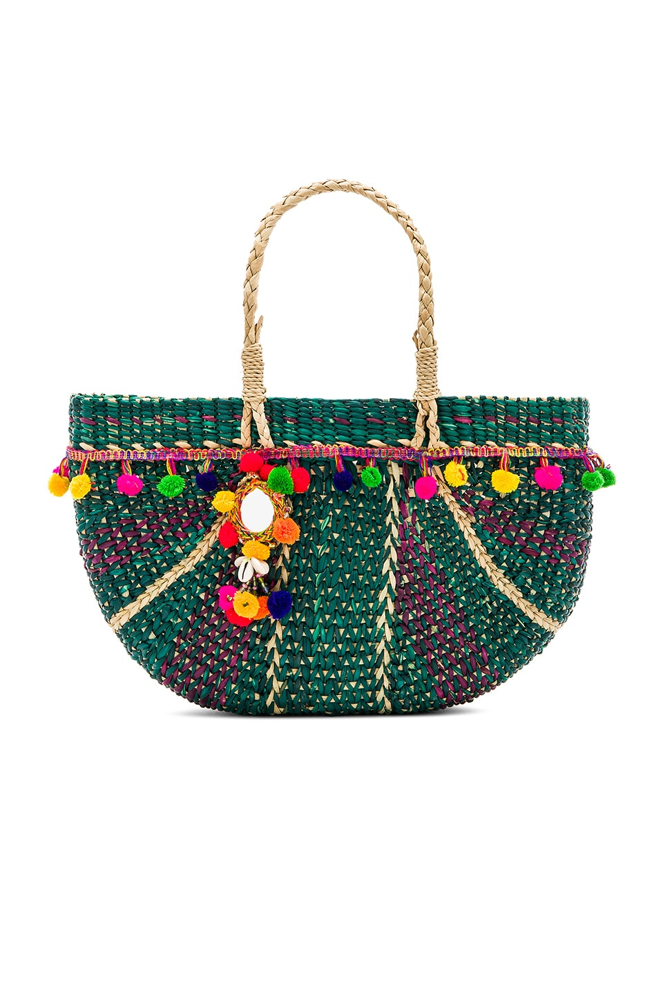 Pitusa Half Moon Beach Bag in Green | REVOLVE