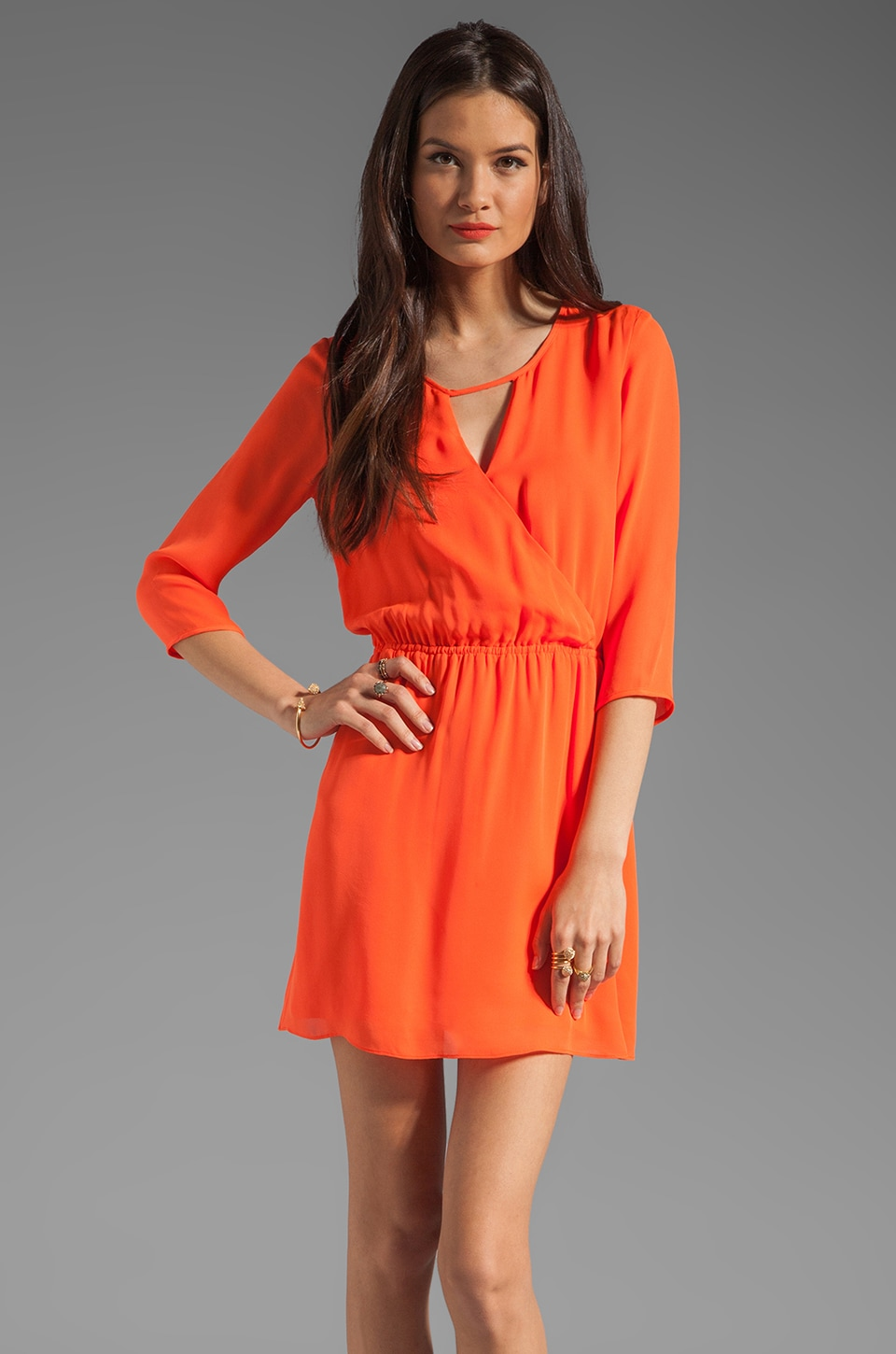 Parker Keyhole Dress in Firecracker