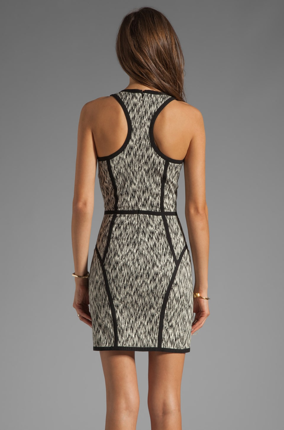 Parker Palms Dress in Black/White