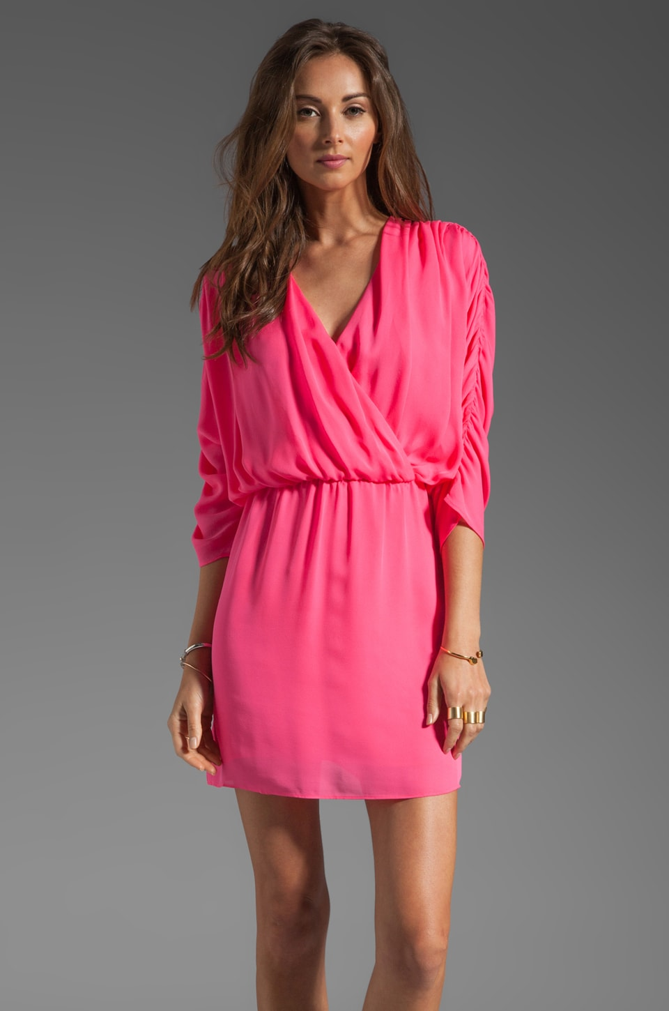 Parker Bella Dress in Flamingo