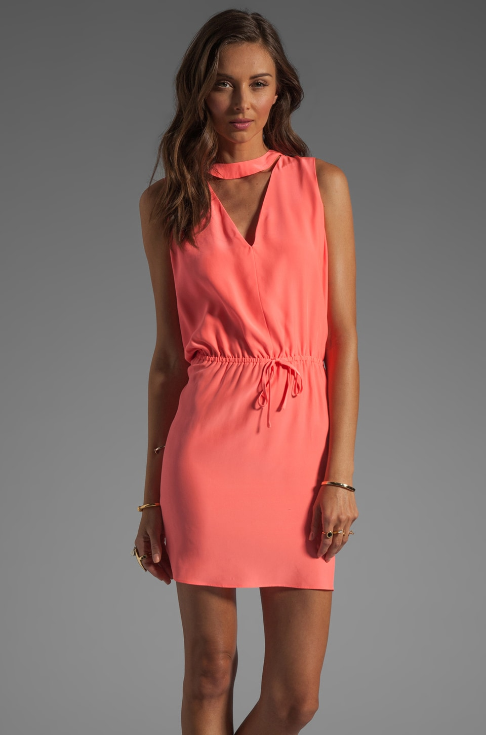 Parker Aubrey Dress in Grapefruit