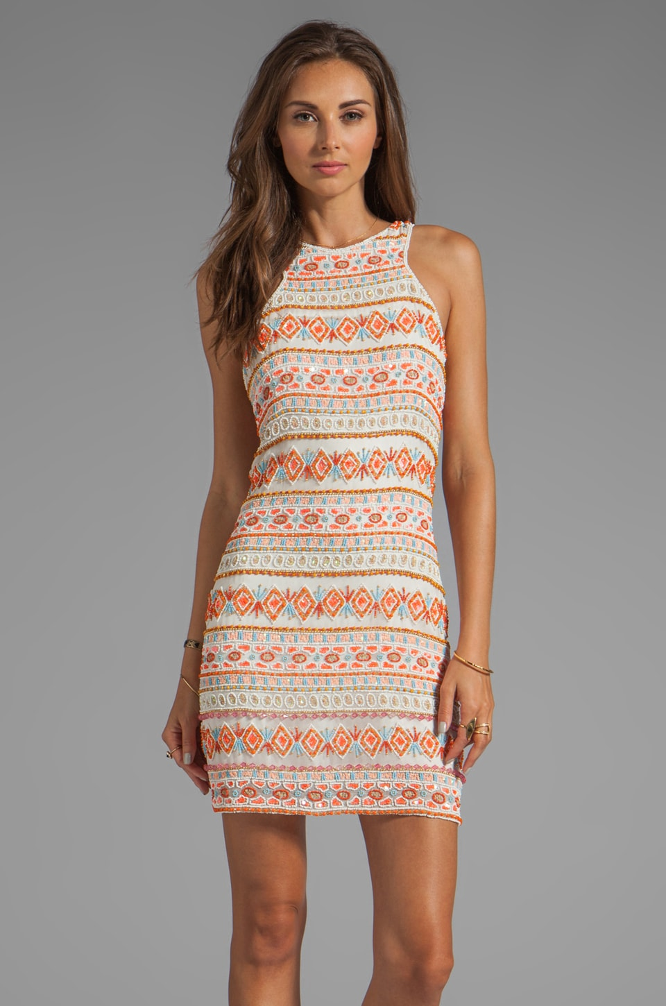 Parker Mariah Sequins Dress in Melon