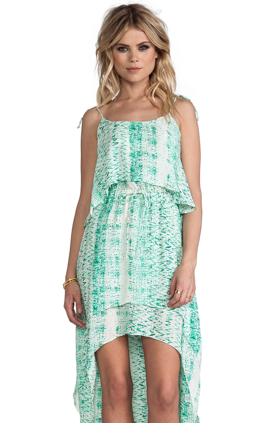 Parker Cara Dress in Honeydew Tracks