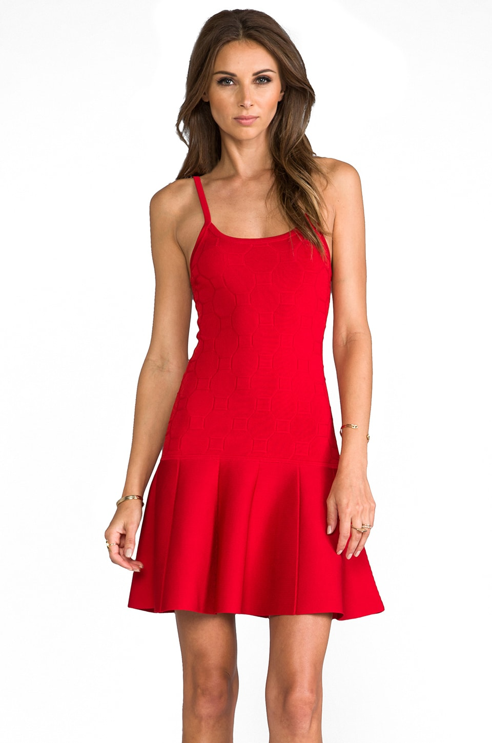 Parker Ashley Dress in Red