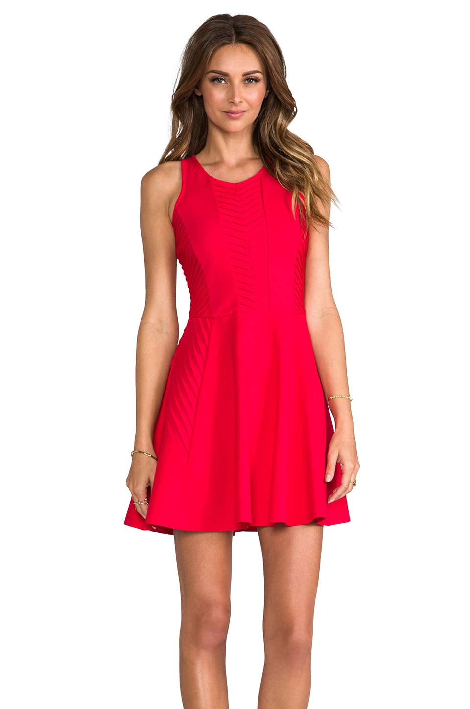 Parker Fay Dress in Poinsettia