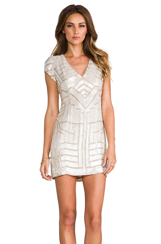 Parker Sequin Serena Dress in Blush