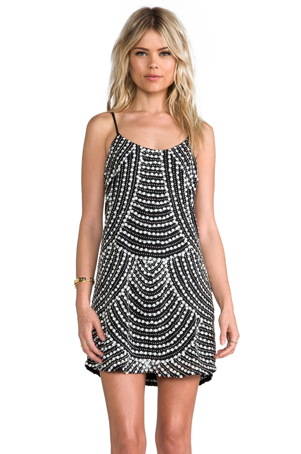 Parker Kate Embellished Dress in Black