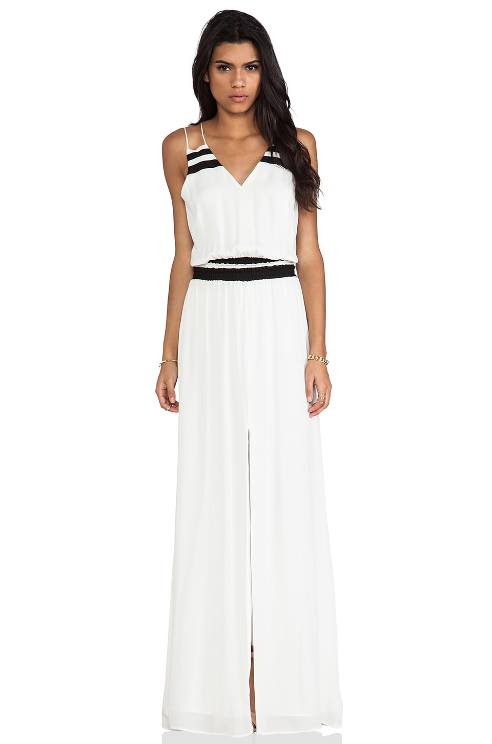 Parker Adelaide Combo Dress in Ivory