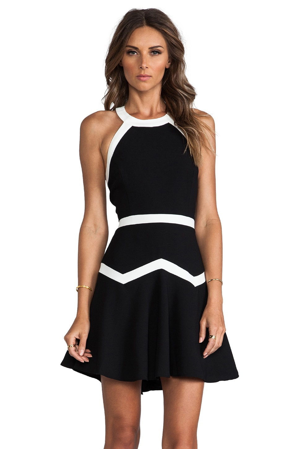 Parker Rogue Combo Dress in Black & White