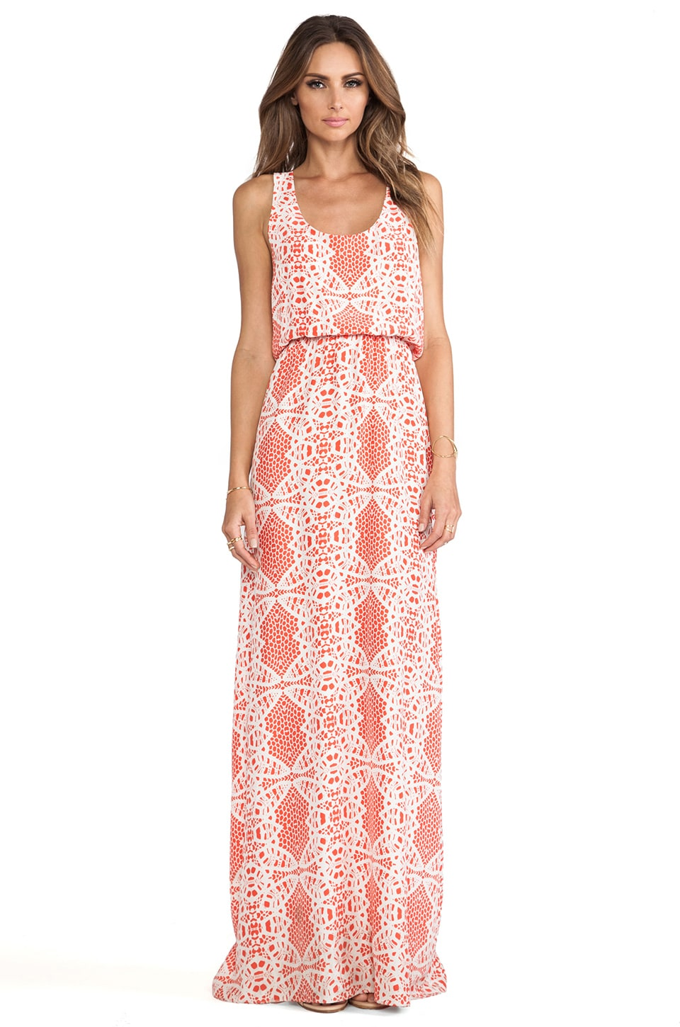 Parker Cassie Dress in Dragon Fruit & Madeira