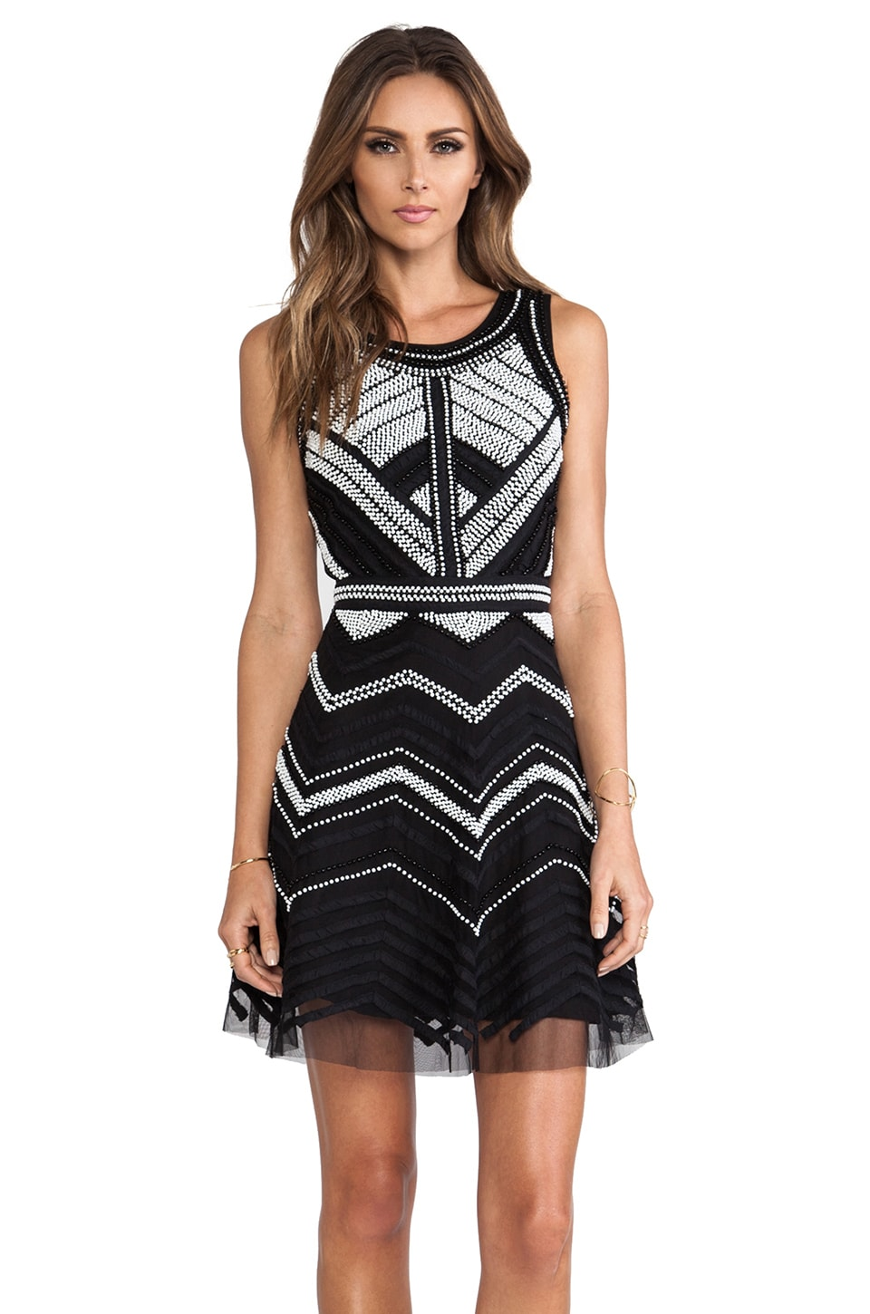 Parker Verda Dress in Black White