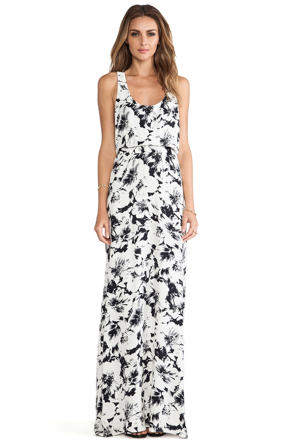Parker Cassie Dress in Black Magnolia
