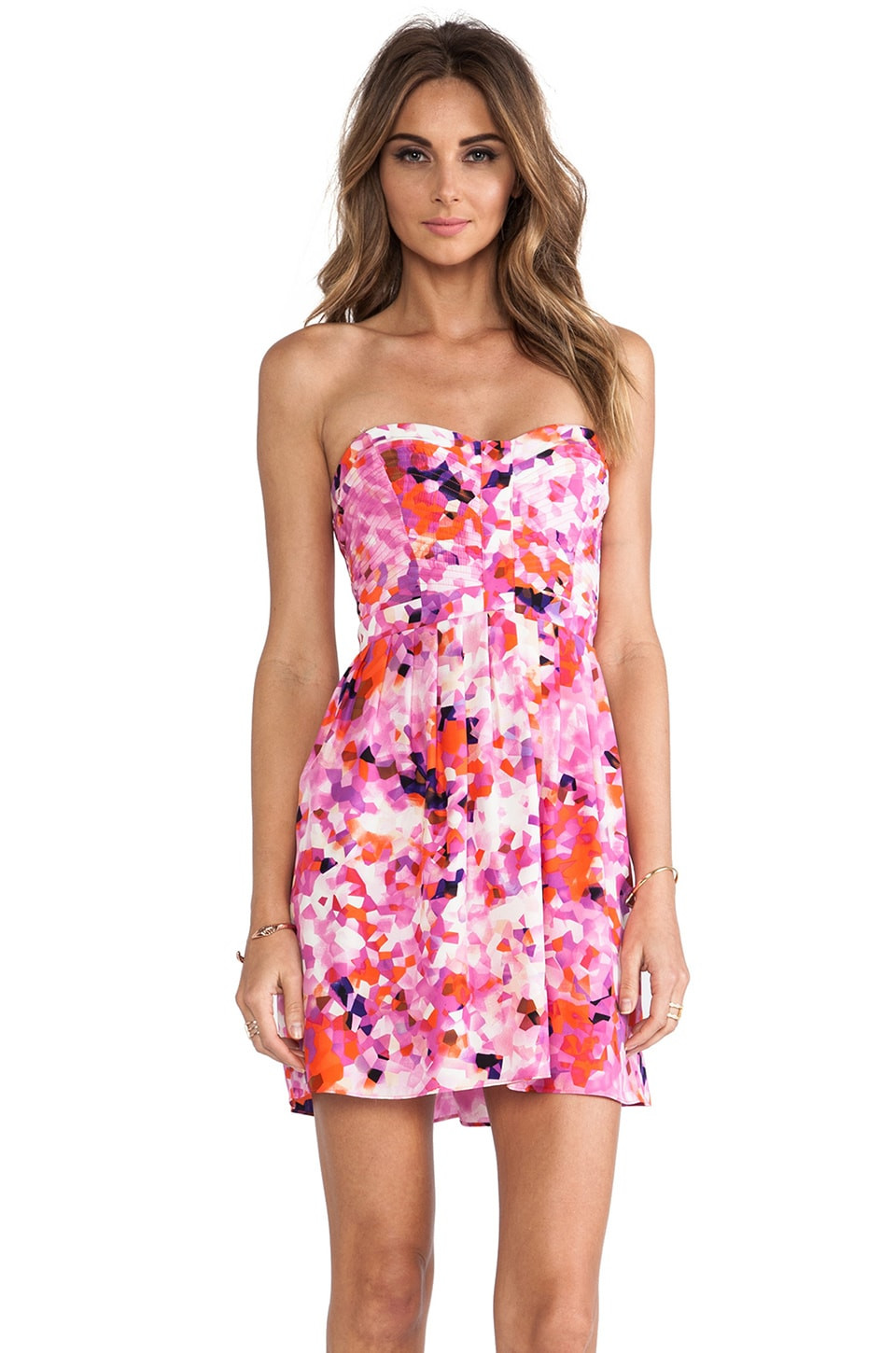 Parker Lily Combo Dress in Twiggy