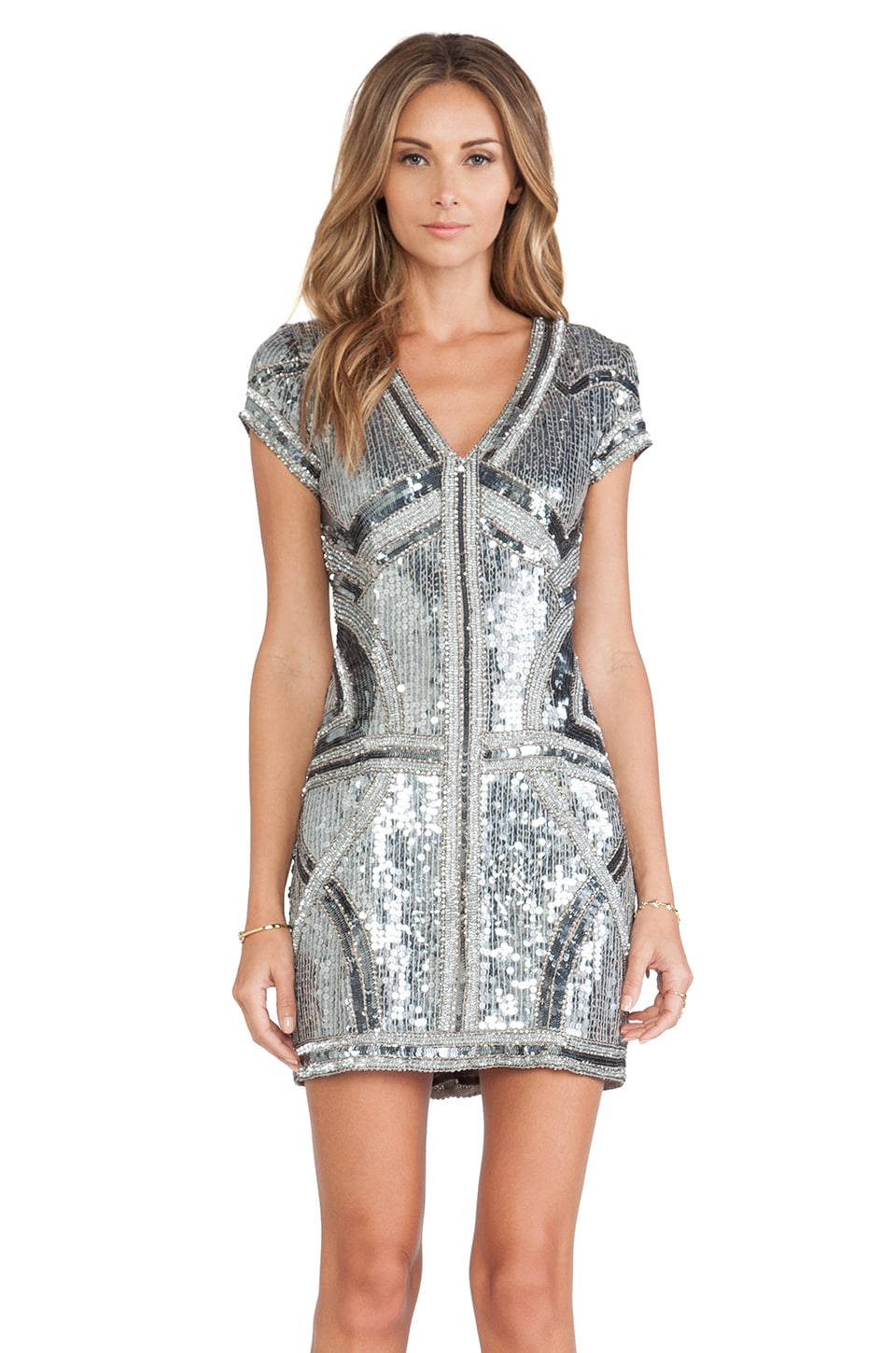 Parker Serena Dress in Gunmetal