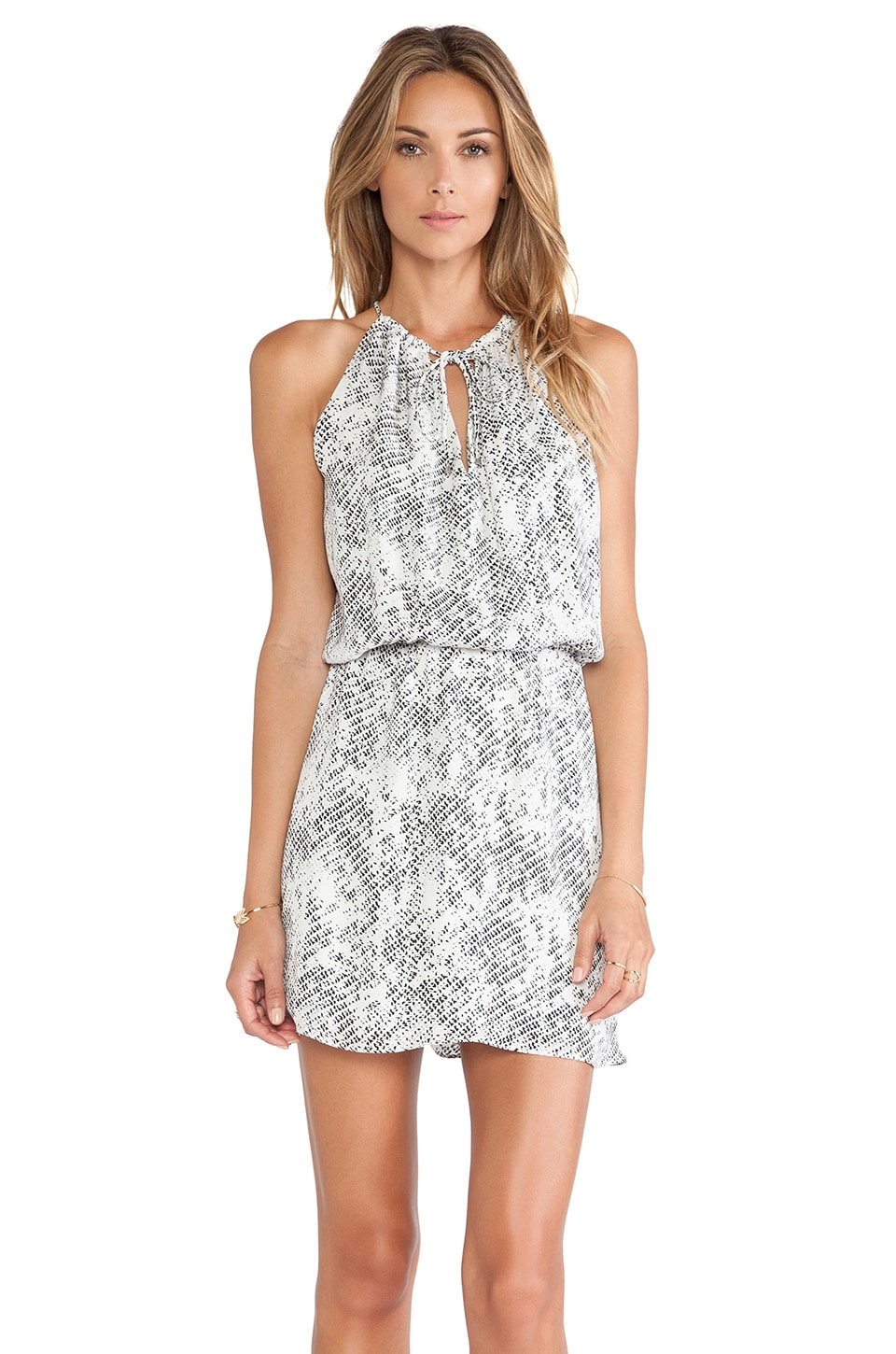 Parker Fleur Dress in Silver Avalanche