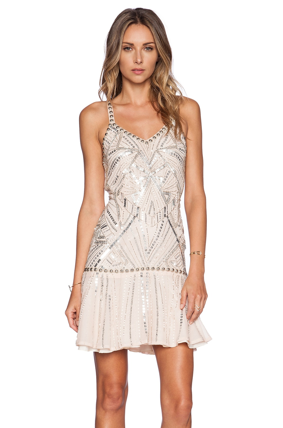 Parker Devany Sequin Dress in Blush
