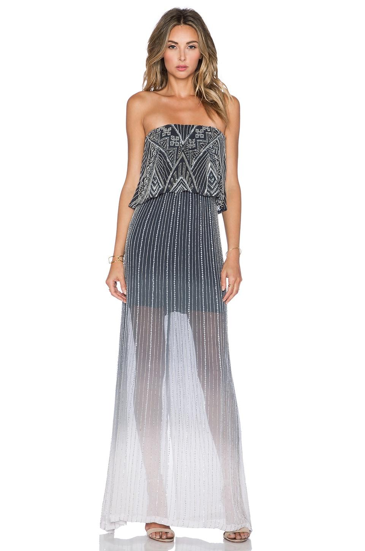 Parker Sequin Marilla Dress in Soft Grey