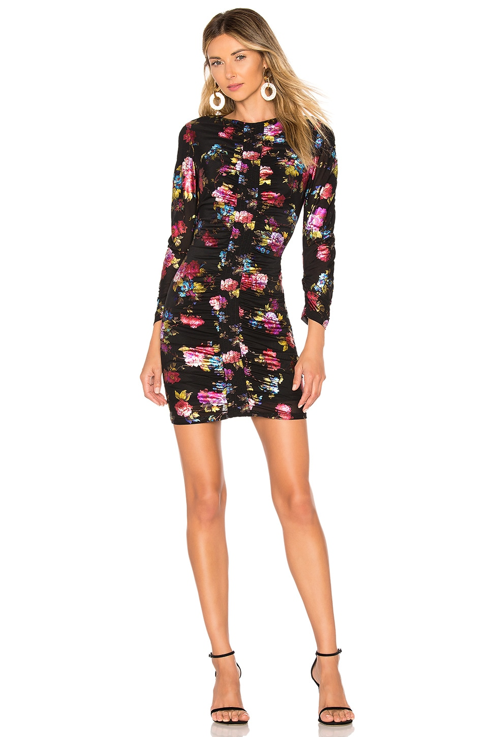 Parker Adrienne Dress in Black Multi