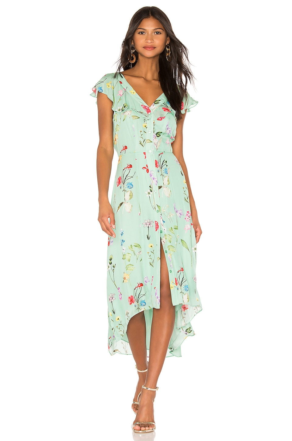 Parker Raven Dress in Grass Gigi